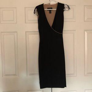 Express Black and Tan reversible dress